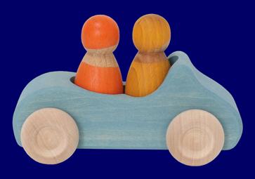 こびとのくるま(2人乗り)あお 車のおもちゃ