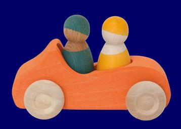 こびとのくるま(2人乗り)だいだい 車のおもちゃ