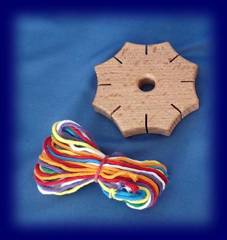 木製星型ひもづくり 手仕事・材料