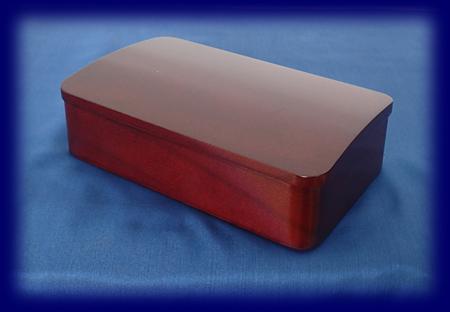 弁当箱 一段 木地呂塗 くりぬき弁当箱 漆塗り