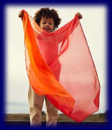 プレイシルク Fire(ファイヤー) 遊び布 おもちゃ 幼児教育