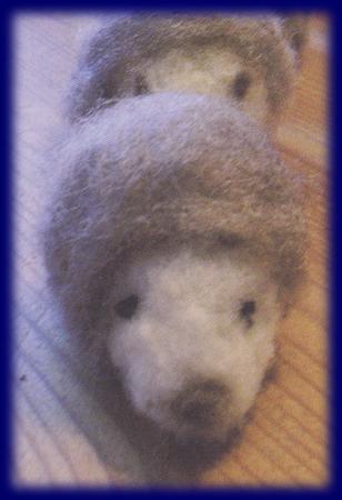 羊毛 ハリネズミ キット としくらえみ 手仕事いっぱい 手づくり 材料