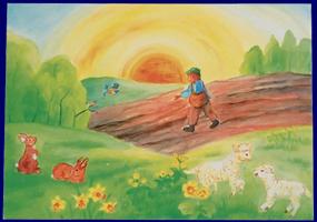 イースター春 EasterSpring いろいろなポストカード 雑貨