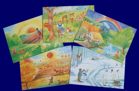 季節のポストカード Through the Year いろいろなポストカード 雑貨