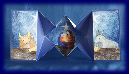 立体カード Holy Family (cc34) クリスマスカード 雑貨