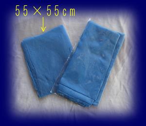 藍染め シルクスカーフ 55×55cm 雑貨