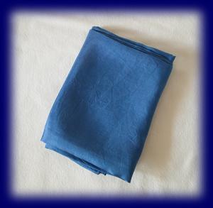 藍染め シルクスカーフ 90×90cm 雑貨