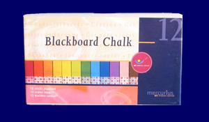 黒板絵用パステルチョーク カラー12色入り 教材