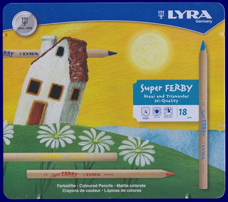 LYRAスーパーファルビー色えんぴつ 18色メタルケース