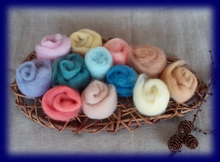 草木染め羊毛12色セット