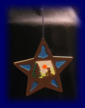 クリスマスの星 羊飼い すかし絵