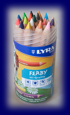 LYRAファルビー色えんぴつ 18色PPボックス(軸白木)