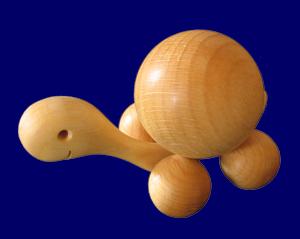コロコロかめさん 4cm 木のおもちゃ