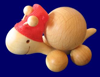 コロコロかたつむり 3cm サンタ 木のおもちゃ