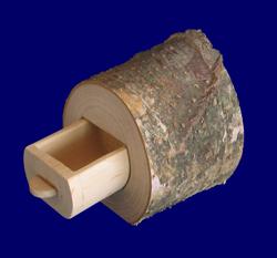 こびとのひきだし 皮付き自然木 ひきだし1個タイプ 皮付き天然木製品