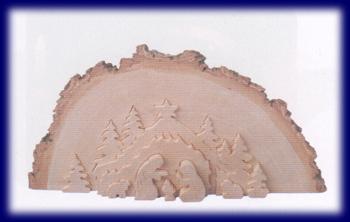 皮付き自然木パズル 聖誕 天然木の小物