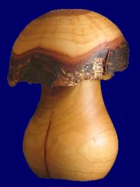 きのこ 9.5cm(No.5002) 皮付き天然木製品