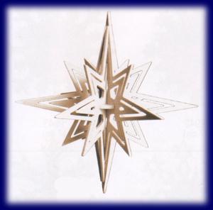 組立式 星のオーナメント 6parts