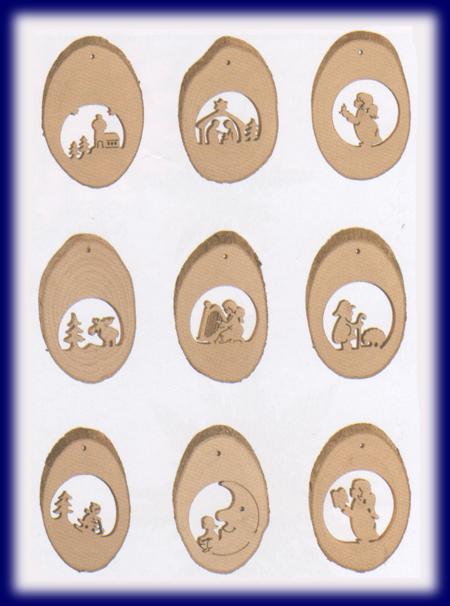 くりぬき木製オーナメント 9種類セット
