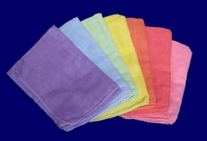ガーゼハンカチ 7色セット 遊び布