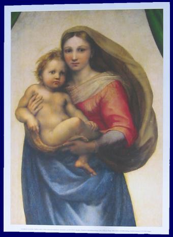 マドンナポスター detail サン・シスト システィナ ラファエロ